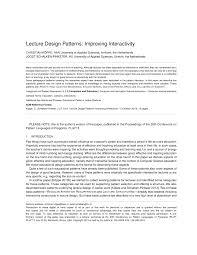 Design Patterns Lecture Pdf Lecture Design Patterns Improving Interactivity