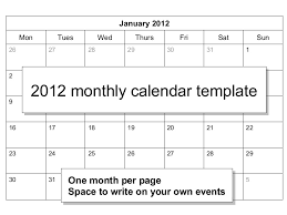 calendar template month 00839 2012 monthly calendar template