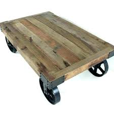 small coffee table on wheels round rustic side tables industrial wood with singapore