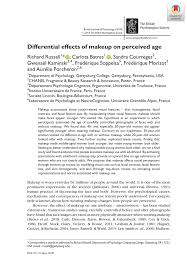 pdf diffeial effects of makeup on perceived age