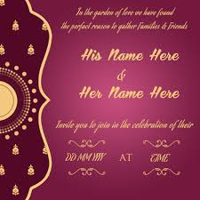 Create Wedding Invitation Card Online Free