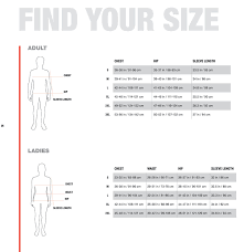 The North Face Size Chart Cm The North Face Size Chart
