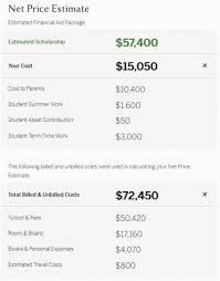 Travel Cost Calculator Understanding Your Net Price Estimate Harvard
