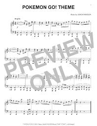 Download Piano Solo Sheet Music To Pokemon Go Theme By Junichi