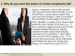 top duties of a hotel receptionist interview questions and answers
