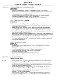 Sample Safety Program Safety Program Manager Resume Samples Velvet Jobs 1