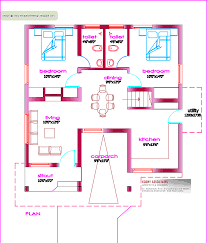 Single Floor House Plan  Sq Ft Kerala Home Design And - Tiny home design plans
