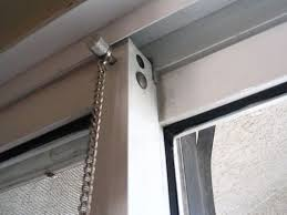 White Sliding Door Loop Lock Glass Bar Security Locks How To A From ...