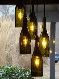 wine lighting. wine bottle chandelier u2013creative upcycling ideas for lighting fixtures