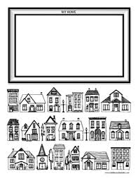 Small Picture Houses Coloring Page Dabbles Babbles