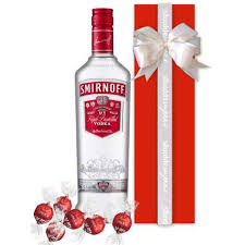 smirnoff vodka 700ml gift wrapped