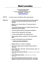 Production Assistant Resume Objective Cover Letter Example Graduate