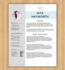 resume template cv template free cover letter for ms word instant digital download media resume template
