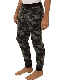 Fruit Of The Loom Signature Mens Poly Rayon Double Knit Jogger Sleep Pant
