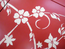 floral painted furniture. fine painted table stencil with floral painted furniture