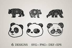Boston terrier svg cute svg files for cricut dog vector. 2 Cartoon Panda Svg Designs Graphics