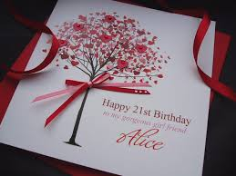 21st birthday cards handmade ~ 21st birthday cards handmade ~ Gorgeous heart filled birthday card tree handmade cards pink posh