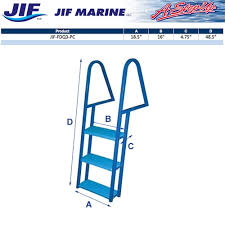Dock Line Size Chart Jif Blue Powder Coated Dock Ladder