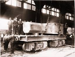vision works homestead pa homestead steel workers with railroad flat car and 90 ton steel