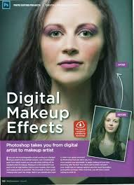 your own using either your own picture of yourself or an image with no touchups makeup add your own post a before and after image on your