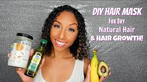 diy hair mask for dry natural hair and hair growth biancareneetoday