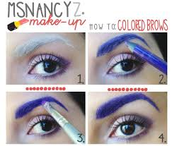eyebrow shadow tutorial. maybe not this crazy, but i thought lightly colored brows might be a cool way eyebrow shadow tutorial