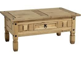 corona pine one drawer coffee table