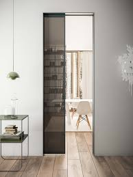 these filomuro doors sit flush against the internal wall where a door can be created if the door has been treated with the same finish as the wall