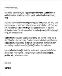 6 letter name character reference letter for teacher 6 reference letter for