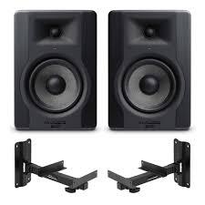 2x m audio bx5 d3 5 studio monitors inc wall brackets simply sound and lighting