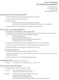example resume 3 d modeler and animator functional resume objective