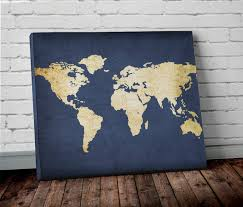 featured photo of world map wall art canvas on world map wall art canvas with 20 best world map wall art canvas