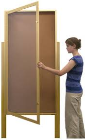 Display Boards Free Standing XL Outdoor Enclosed Bulletin Boards Standing 100 Leg Posts SHIPS 71