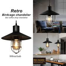 image is loading creative vintage iron industry bar light birdcage chandelier