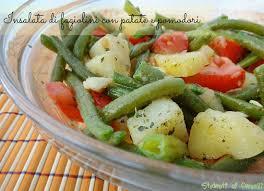 INSALATA DI FAGIOLINI PATATE E POMODORI | Ricetta | Ricette, Ricette  estive, Cibo vegetariano