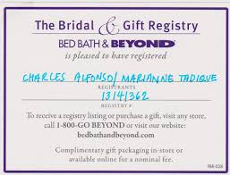 Bed Bath And Beyond Bridal Registry