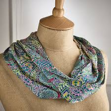 liberty knots silk scarf necklace