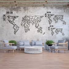 limited metal wall art world map xl and within metal world map