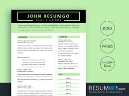 Modern Resume Template Free Download Word Free Modern Resume Templates For Word Google Docs And Pages