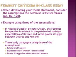 applying feminist criticism to a text springboard unit ea  feminist criticism in class essay