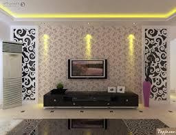 Wallpaper Design Home Decoration Delightful Living Room Interior Decorating With Wallpaper Beside Tv 73