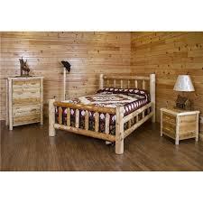 White Cedar Log Bedroom Set *Bed, Dresser, Nightstand, Coat Rack* ...