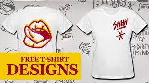 Free T Shirt Logo Designer How To Design A Custom T Shirt Online Using My Free Vector Packs