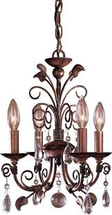 mini vintage wood chandelier