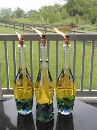 wine bottle diy crafts wine bottle tiki torch projects for lights decoration