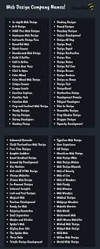 Cool Web Design Company Names 200 Web Development Company Name Ideas