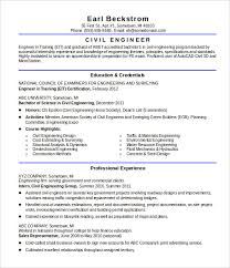 Civil Engineer Resume Sample Doc