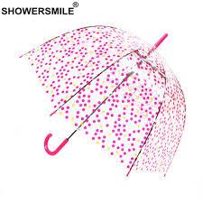 <b>SHOWERSMILE Transparent Umbrella</b> Rain Women <b>Clear</b> ...