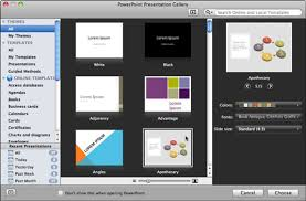 Powerpoint Presentation Gallery Open The Powerpoint Presentation Gallery In Office 2011 For Mac
