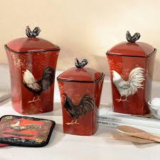 image of rooster kitchen decor canisters